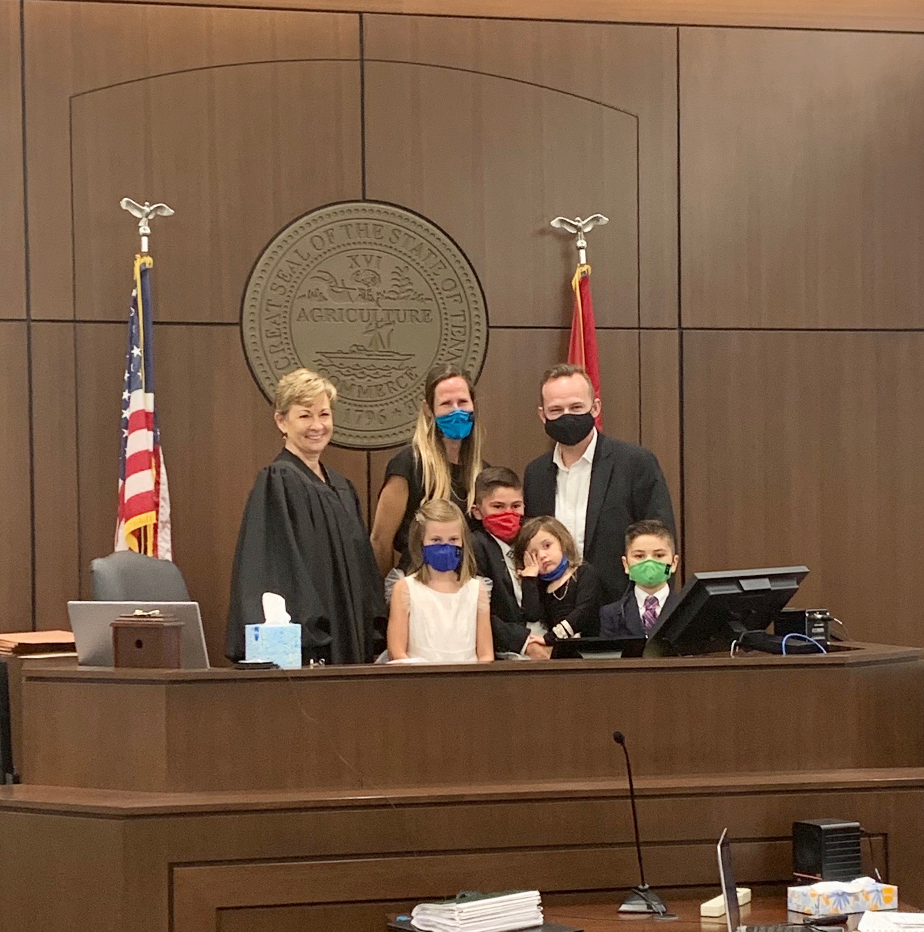 Final adoption hearing is a very happy day!